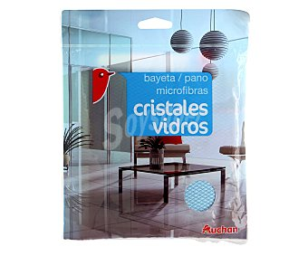 Auchan Bayeta microfibra para cristales y vidrios, 1 unidad