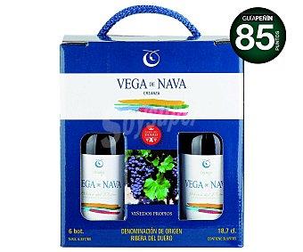 Vega de Nava Vino tinto crianza con denominación de origen Ribera del Duero Pack 6 unidades