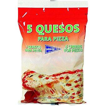 HIPERCOR queso rallado especial pizza 5 quesos bolsa 200 g