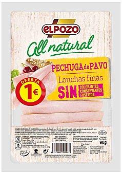ElPozo Pechuga de Pavo All Natural El Pozo 90 g