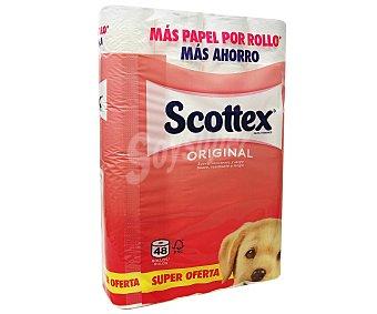 SCOTTEX ORIGINAL Papel higiénico 48 unidades