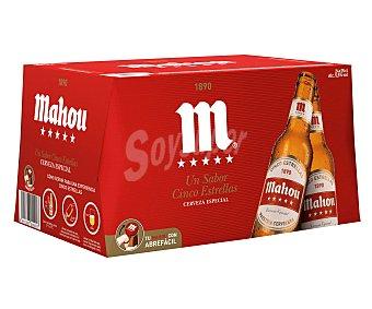 Mahou Cerveza 5 estrellas Pack 24 botellines x 25 cl