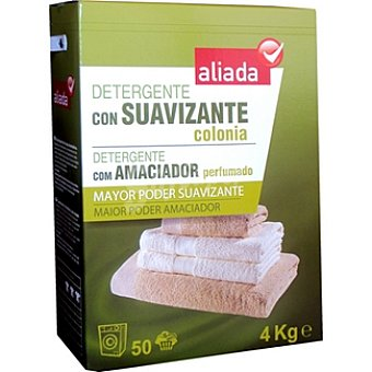 Aliada Detergente máquina polvo con suavizante colonia Maleta 50 cacitos