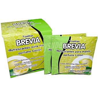 Brevia Toallitas refrescantes para manos perfume limon caja 12 unidades 12 unidades