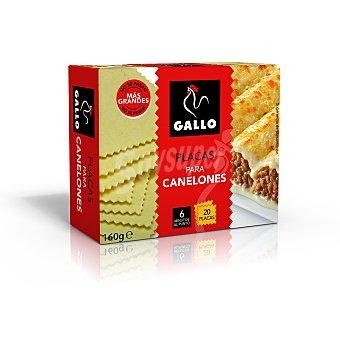 Gallo Placas para canelones caja 160 gr 20 unidades