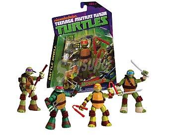 GIOCHI PREZIOSI Figuras artículadas Battle Shell Tortugas Mutantes Ninja, incluye dos armas 1 unidad