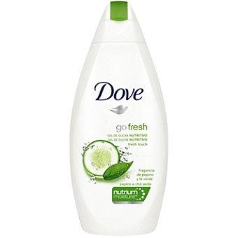 Dove gel de baño Fresh Touch nutritivo con fragancia de pepino y té verde Botella 750 ml