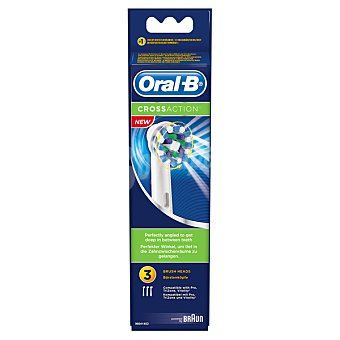 BRAUN - ORAL B EB50 Recambio Cross Action 3 unidades