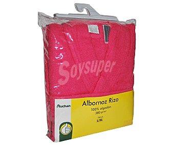 PRODUCTO ECONÓMICO ALCAMPO Albornoz de algodón rizo color coral liso unisex, talla extra grande 1 Unidad