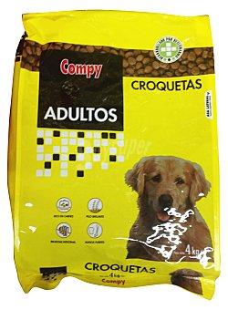Compy Comida perro croqueta carne Paquete 4 kg