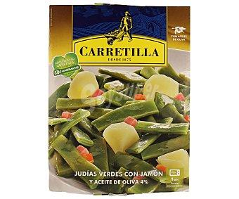 Carretilla Judías verdes con jamón y aceite de oliva 240 gramos