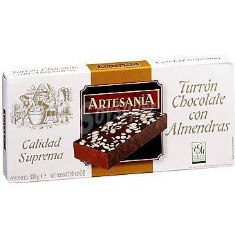 ARTESANIA turrón de chocolate con almendras tableta 200 g