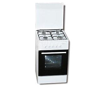 EUROTECH Cocina independiente gas natural VCH5055, alimentación del horno: gas, zonas de cocción: 4, H: 82cm, A: 50cm, F: 56cm VCH 5055