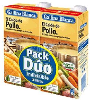 Gallina Blanca Caldo de pollo pack de 2 brik de 1l