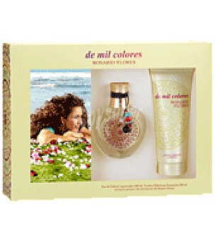 Rosario Flores Estuche Colonia Mil Colores spray 100ml.+ body lotion 100ml. 1 ud