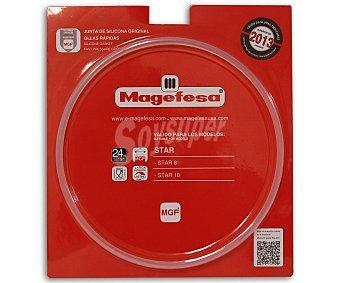 Magefesa Recambio de goma, junta de silicona para tapa de olla expréss Magefesa Star año 2013 con capacidad de 4 a 6L o 22 centímetros de diámetro 1 Unidad