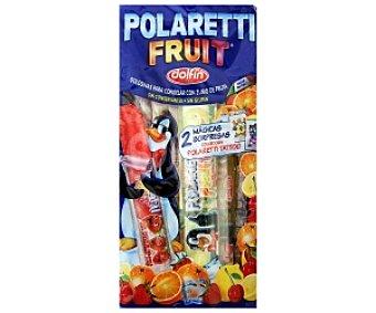 MIGUELAÑEZ Polaretti Fruit (golosinas para congelar con zumo de fruta) 10 Unidades de 40 Mililitros