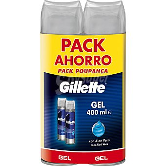 GILLETTE SERIES gel de afeitar piel sensible con aloe vera pack 2 spray 200 ml Pack 2 spray 200 ml