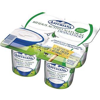 ASTURIANA BIFIDUS ACTIVO Yogur desnatado natural pack 4 unidades 125 g Pack 4 unidades 125 g