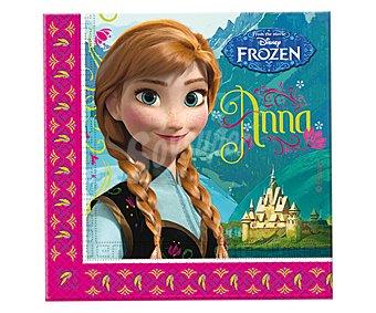 Disney Servilletas desechables de papel doble capa con diseño Frozen, 33x33 centímetros Pack de 20 unidades