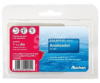 AUCHAN Kit para analizar el Cloro Libre y el PH de tu piscina y mantenerlos en unos niveles adecuados para el baño 1 Unidad