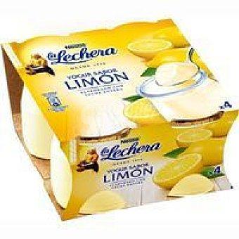 La Lechera Nestlé Yogur de limón enriquecido Pack 4x125 g