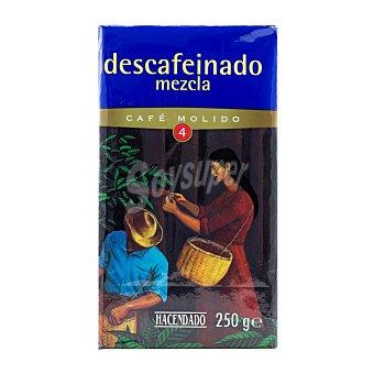 Hacendado Cafe molido descafeinado mezcla Nº 4 (sabor y cuerpo) Paquete 250 g