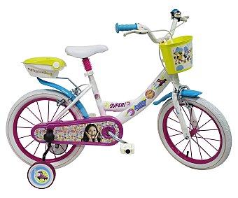 Disney Bicicleta infantil de 1 velocidad con portamuñecas y cesta, 16 pulgadas, Soy Luna 1 unidad