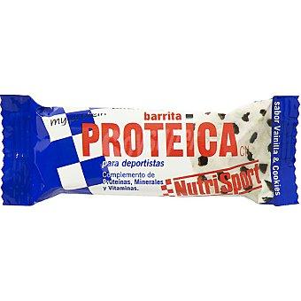 NUTRISPORT Barrita proteica sabor vainilla y cookies Unidad 44 g