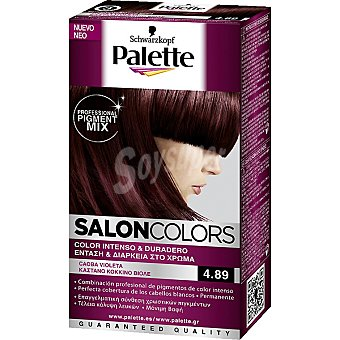 Schwarzkopf Palette Tinte nº 4.89 Caoba Violeta color intenso y duradero Salon Colors Caja 1 unidad