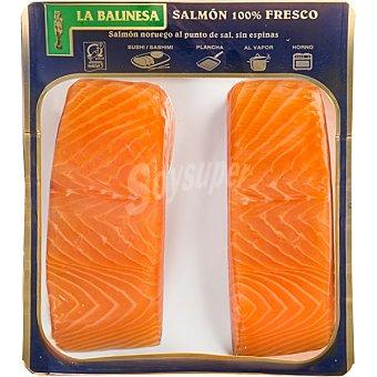La balinesa Lomos de salmón noruego 100% fresco al punto de sal sin espinas bandeja 300 g bandeja 300 g