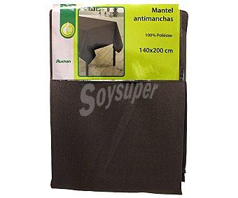 PRODUCTO ECONÓMICO ALCAMPO Mantel antimanchas 100% poliéster, color marrón pardo liso, 140x200 centímetros 1 Unidad