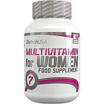 Biotech usa Multivitamin complejo vitamínico con aminoácidos y antioxidantes para mujeres bote 60 tabletas