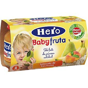 Hero Baby Tarrito selección de tres frutas 2 tarritos de 120g