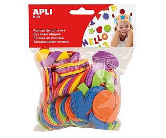APLI Bolsa de 104 letras de goma eva y colores surtidos 1 unidad