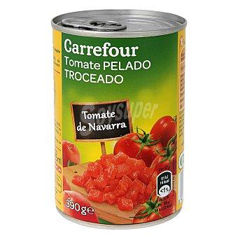 Carrefour Tomate de Navarra pelado troceado 390 g