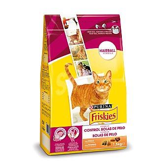 FRISKIES Comida para gatos seca control Bolas Pelo Bolsa de 1,5 kg