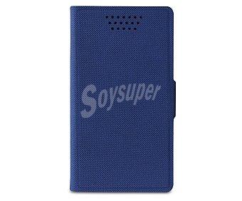 """Muvit folio stand Funda con tapa universal Soft, índigo, para smartphones de hasta 4"""", rotativa y función soporte,"""