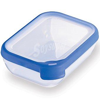Curver Hermético rectangular tapa transparente y azul 1,2 l 1,2 l