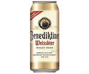 Benediktiner Cerveza de trigo weissbier Lata 500 ml