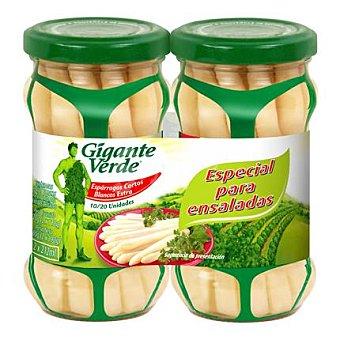 Gigante Verde Espárragos cortos blancos 2 tarros de 100 g