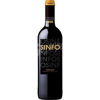 SINFO Vino tinto tempanillo roble D.O. Cigales Botella 75 cl
