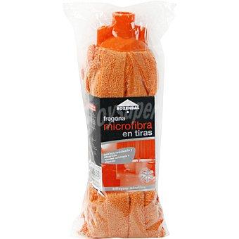 Rozenbal Fregona microfibra en tiras naranja Paquete 1 unidad