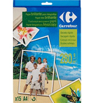 Carrefour Papel inkjet brillo 15H 280G