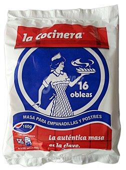La Cocinera Masa para empanadillas y postres 160 g ( 16 obleas )