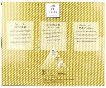 Aire de Sevilla Estuche regalo para mujer con colonia de 150 mililitros, loción corporal y gel de ducha L'audace 1 unidad