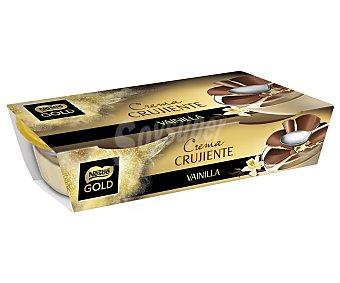 Nestlé Gold Crema de vainilla con una crujiente capa de cacao 2 x 90 gr