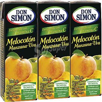 Don Simón Zumo de melocotón Pack 3 envase 200 ml