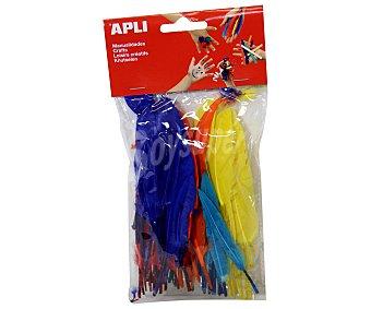 APLI Bolsa de Plumas de Colores 100 Unidades