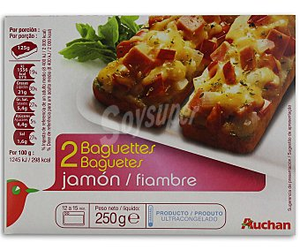 Auchan Baguette jamón 250 gramos